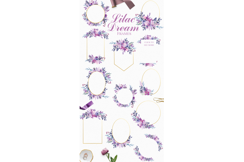 lilac-dream-watercolor-clip-art-set