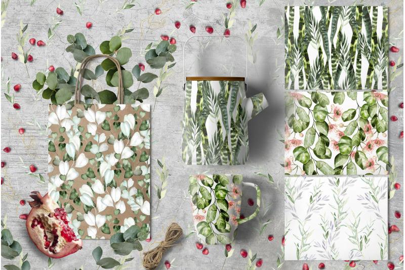 watercolor-eucalyptus-amp-leaves