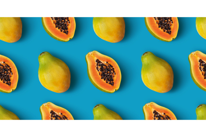 papaya-fruit-seamless-pattern