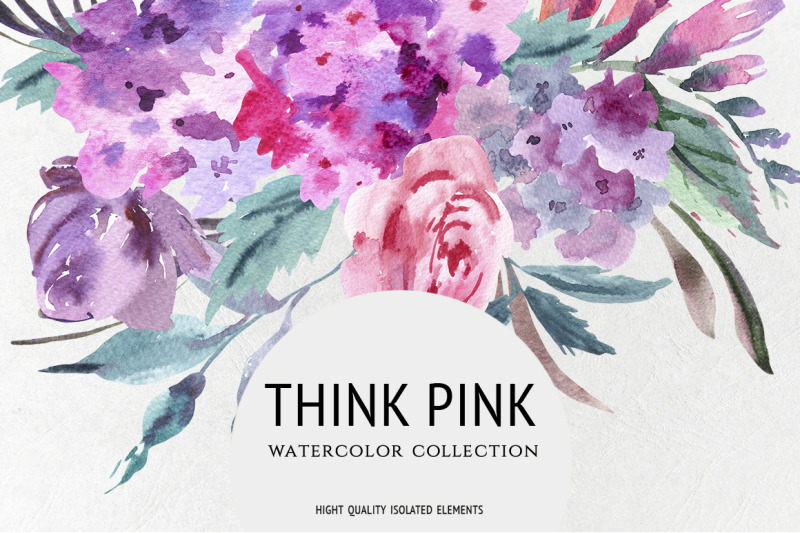 think-pink-watercolor-collection