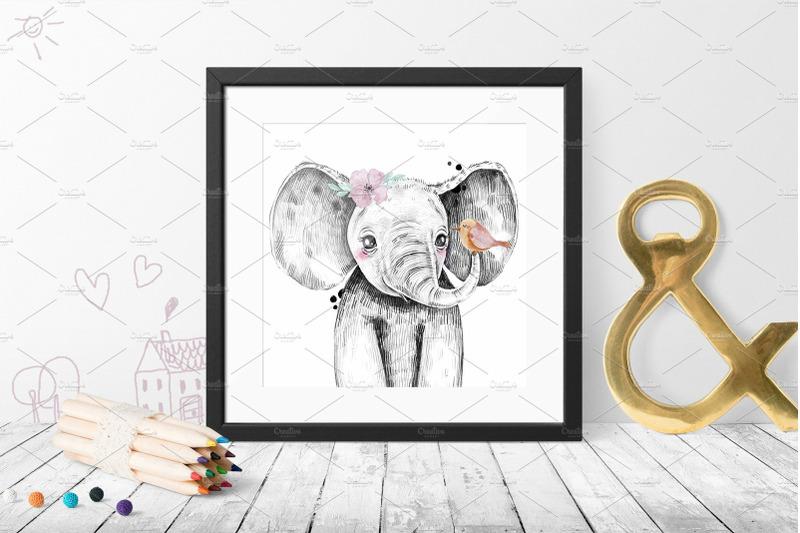 safari-babies-watercolor-set