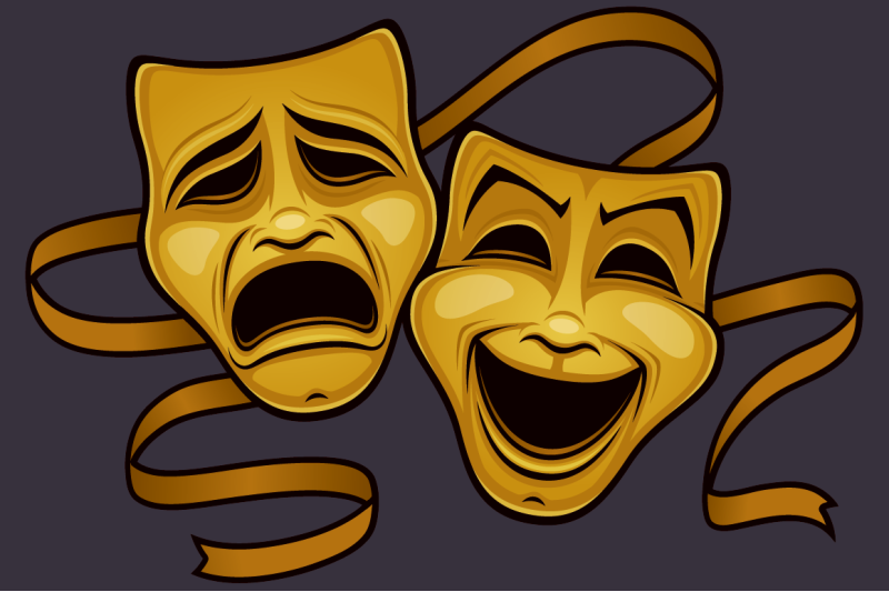 gold-comedy-and-tragedy-theater-masks