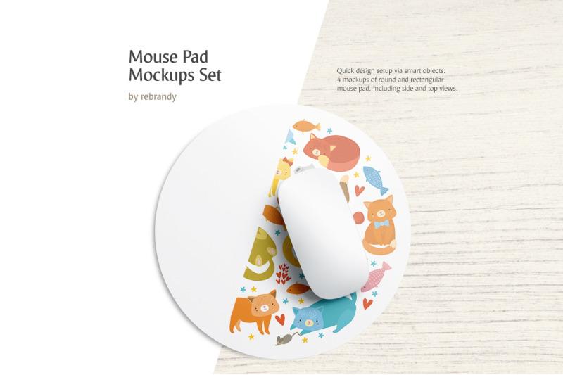 Free Mouse Pad Mockups Set (PSD Mockups)