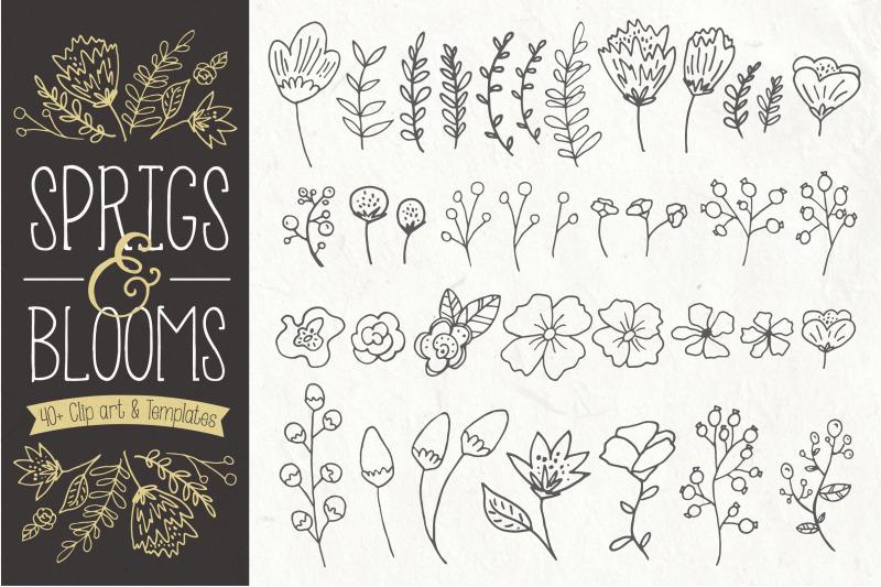 sprigs-amp-blooms-clip-art-amp-vectors