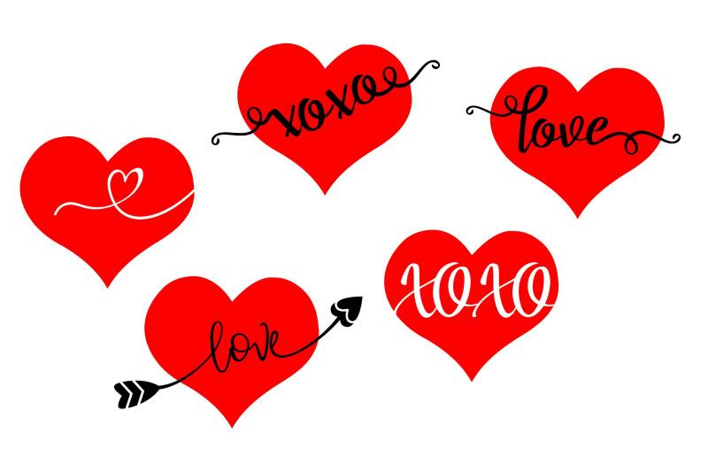 Valentine Hearts Bundle Love Xoxo Svg Png Eps By Studio 26 Design Co Thehungryjpeg Com