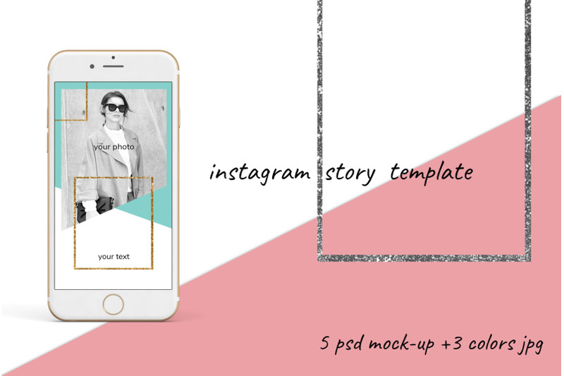 Free Instagram story mock-up (PSD Mockups)
