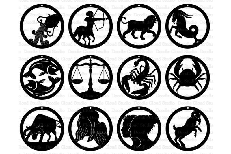 zodiac-earrings-svg-earrings-astrology-svg-12-illustrated-zodiac