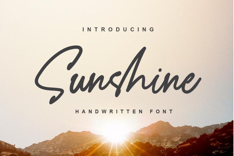 sunshine-a-handwritten-font