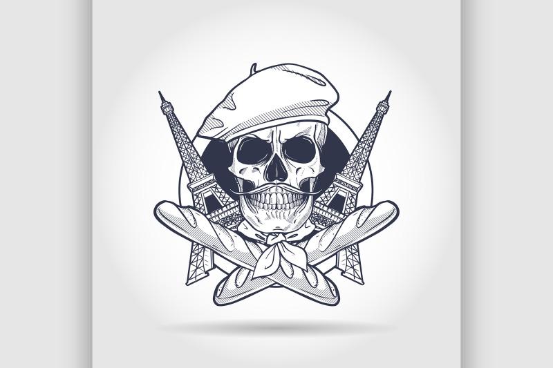 sketch-french-skull