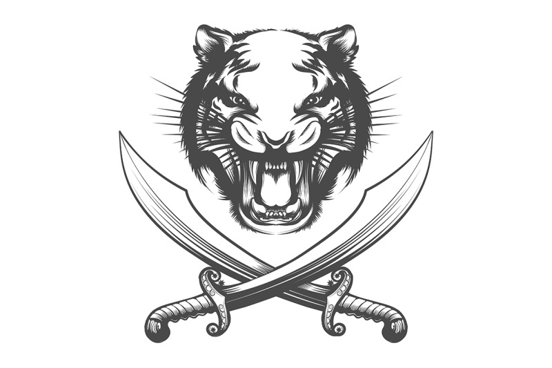 tiger-face-and-arabian-swords