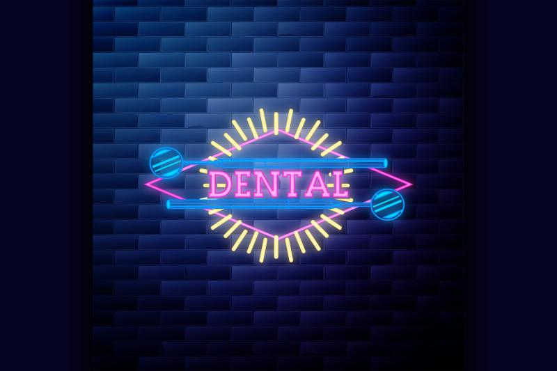 vintage-dental-emblem-glowing-neon-sign