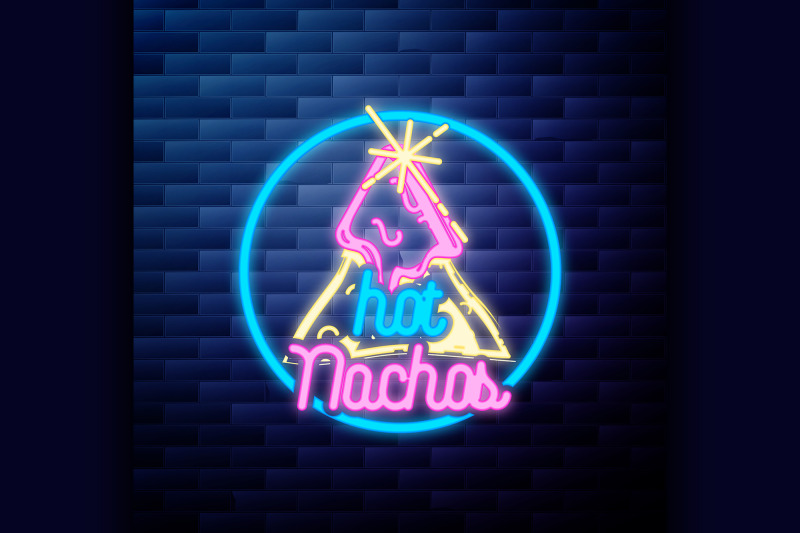 vintage-mexican-food-emblem-glowing-neon-sign
