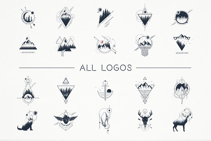 geometric-nature-20-greative-logos