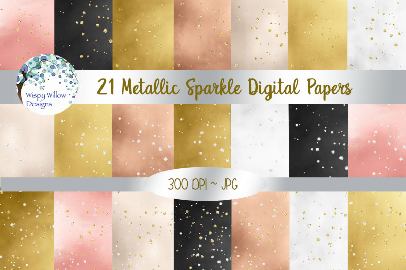 metallic-sparkle-digital-papers
