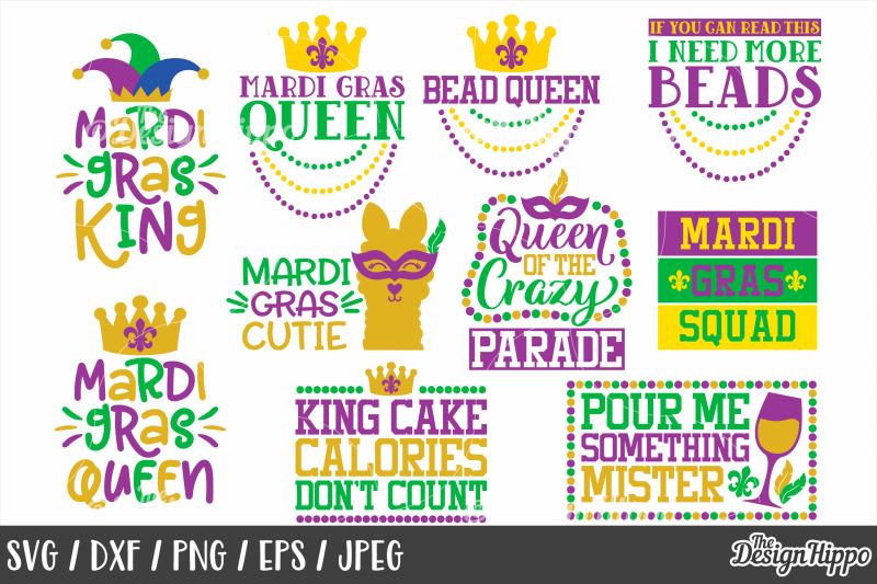 Mardi Gras Svg Bundle Of 20 Designs Dxf Png Cricut Cutting