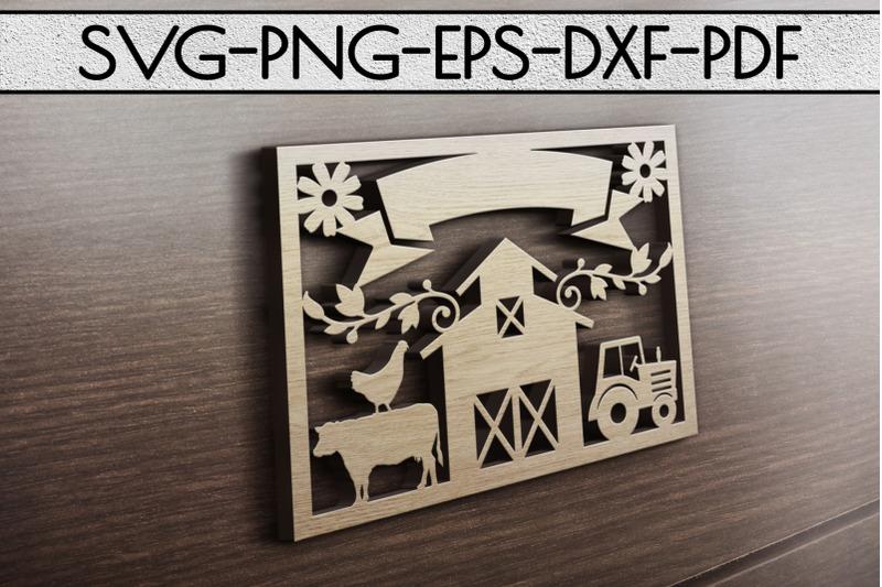 customizable-farmhouse-papercut-template-farm-decor-laser-cut-dxf-pd