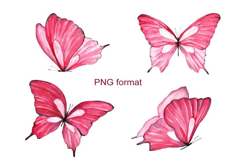 watercolor-pink-butterflies