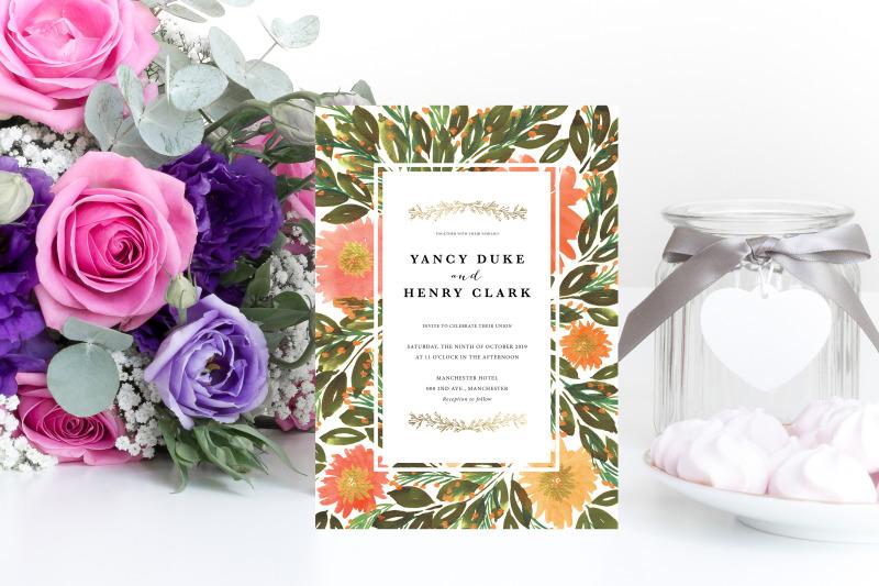 hand-painted-flowers-wedding-invitation-printable-invitation