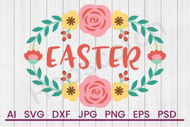 spring-flower-frame-easter-svg-file-dxf-file