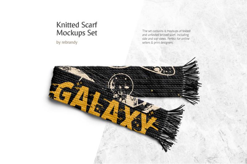 Free Knitted Scarf Mockups Set (PSD Mockups)
