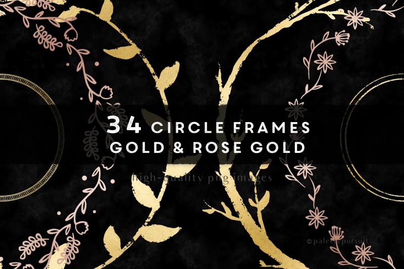gold-amp-rose-gold-circle-frames-wreath-clip-art