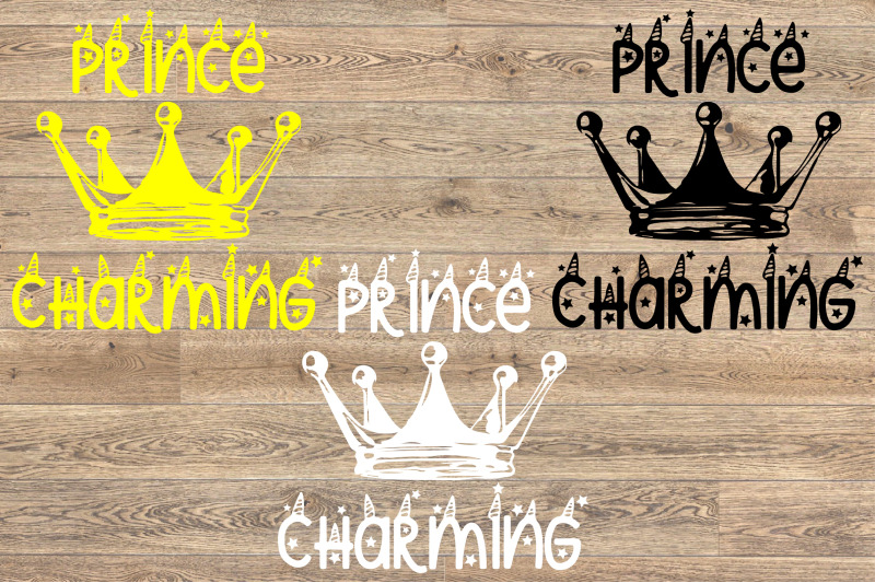 Prince Charming Svg Crown Unicorn Newborn Clipart Fairy Tale 1256s