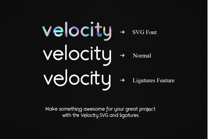 velocity-svg-font