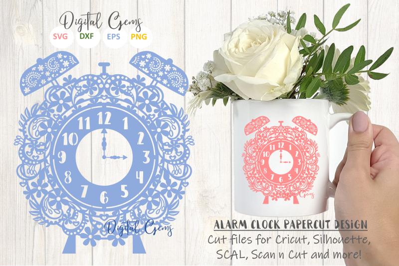 alarm-clock-papercut-design