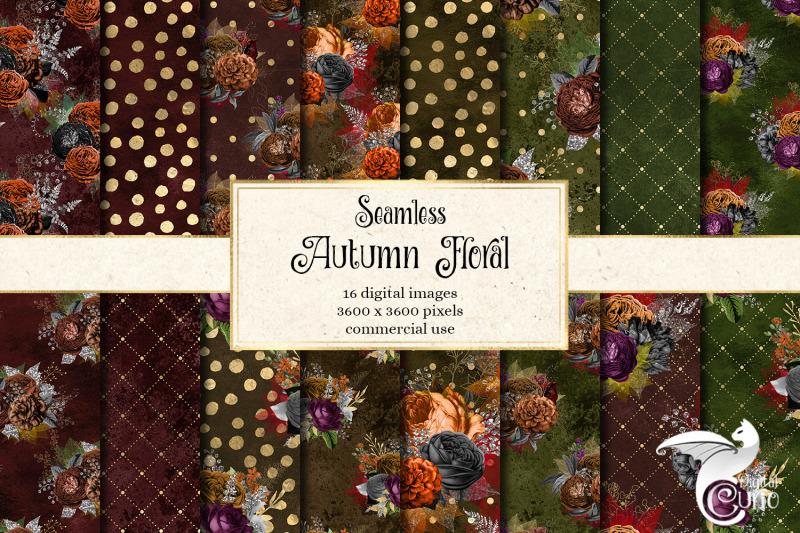 autumn-floral-digital-paper