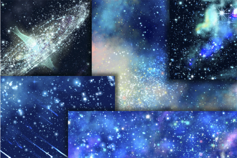blue-galaxy-digital-paper-starry-sky-background