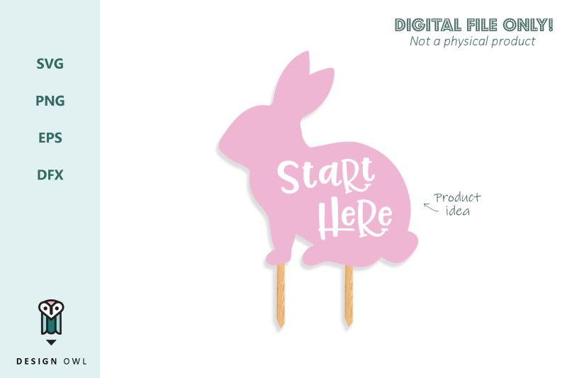start-here-bunny-sign-svg-file