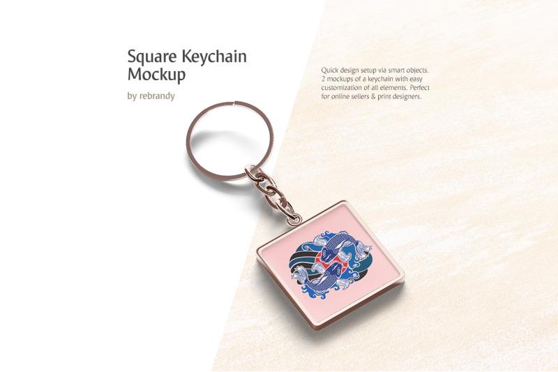 square-keychain-mockup