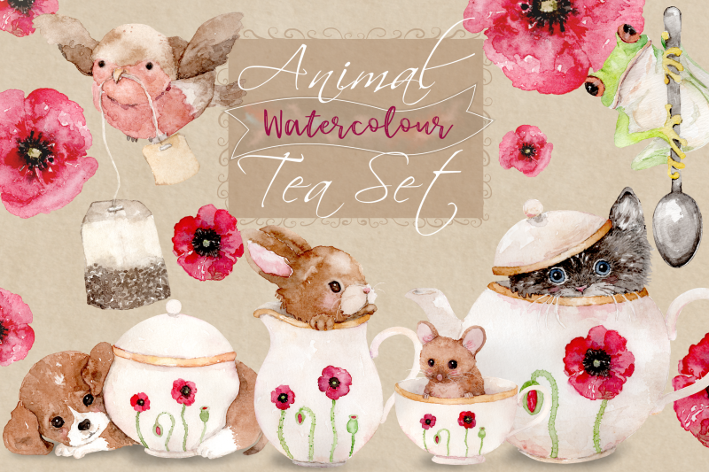 animal-tea-set-8-watercolor-clip-art-illustrations-png-jpg