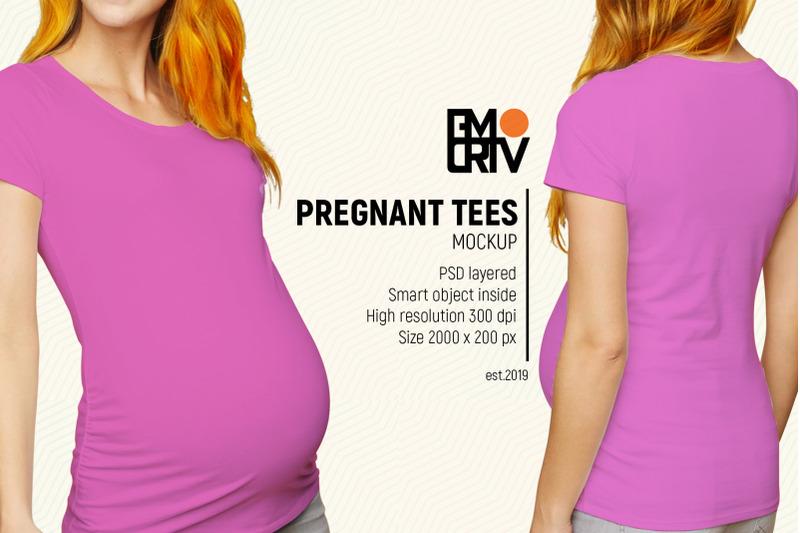 Free Pregnant Tees Mockup (PSD Mockups)