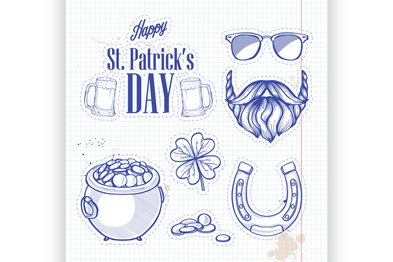 stickers-set-for-saint-patricks-day