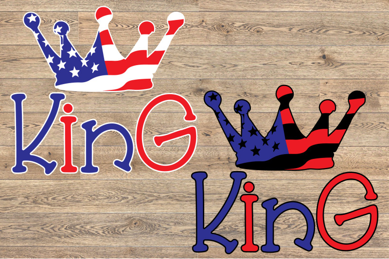 King Crown Usa Flag Svg Royal 4th July Fairy Tale 1263s By