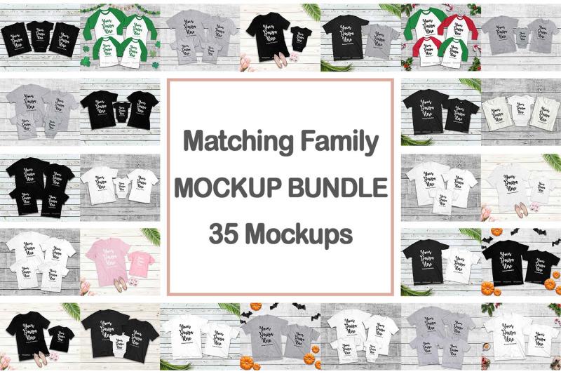 Free Family Tshirt Mockup Bundle, Kids Shirt Mock Up Bundle Set (PSD Mockups)