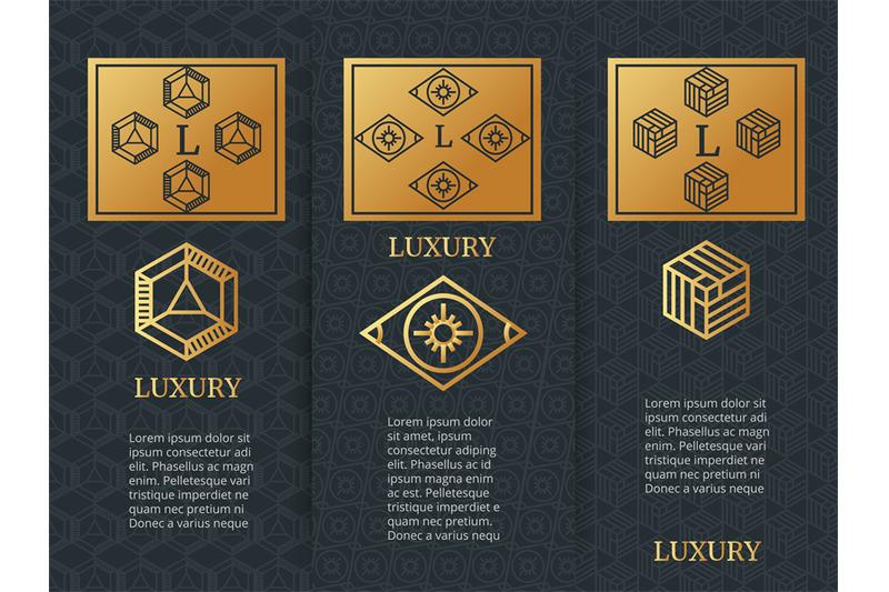 luxury-design-brochure-flyers-template-with-monogramm