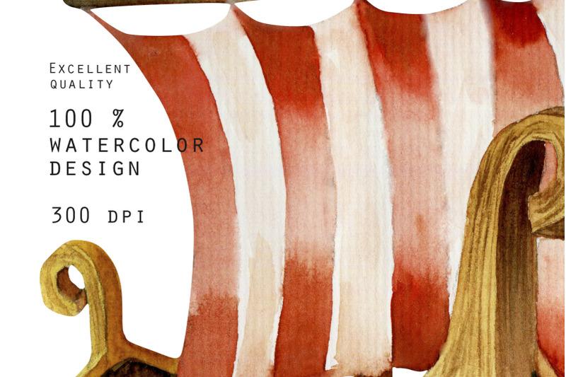vikings-watercolor-clip-art