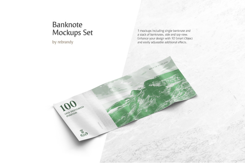 Free Banknote Mockups Set (PSD Mockups)