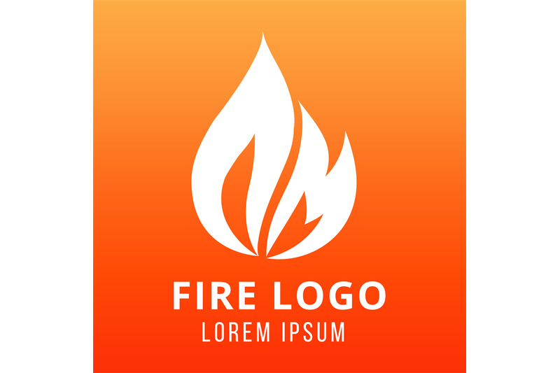 flame-of-fire-logo-design-on-fire-color-background