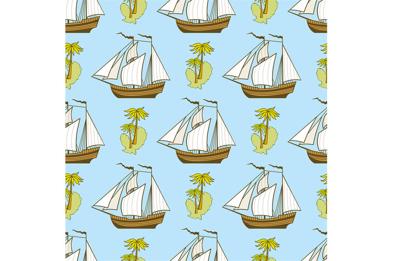 seamless-pattern-with-ship-palms-and-island
