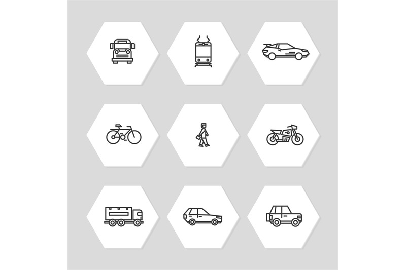 city-transportation-line-icons-set-cars-train-bus-icons