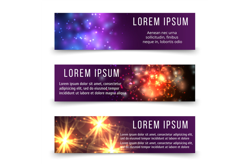 abstract-banners-template-with-space-objects