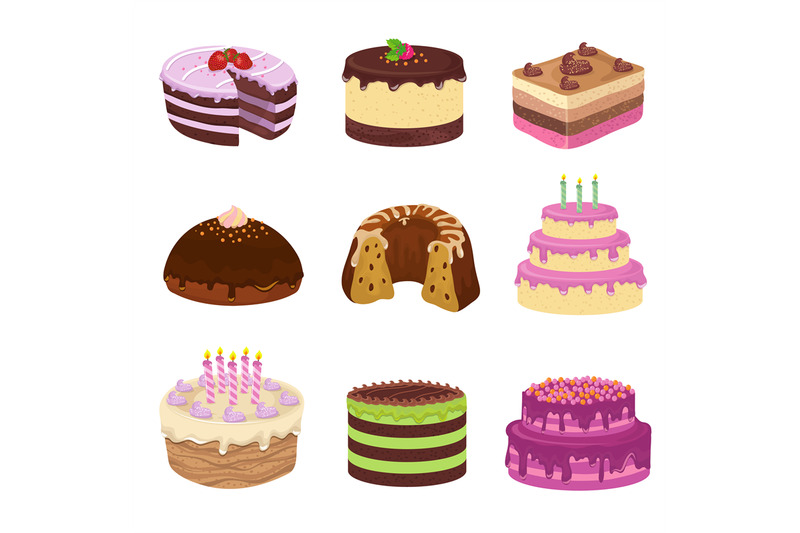 birthday-party-vector-tasty-cakes-anniversary-decorating-cake-and-cup