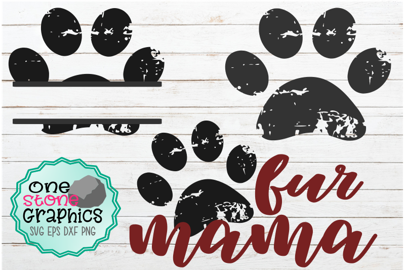 grunge-paw-print-bundle-dog-svg-fur-mama-svg