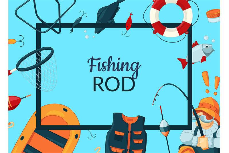 vector-cartoon-fishing-equipment-illustration
