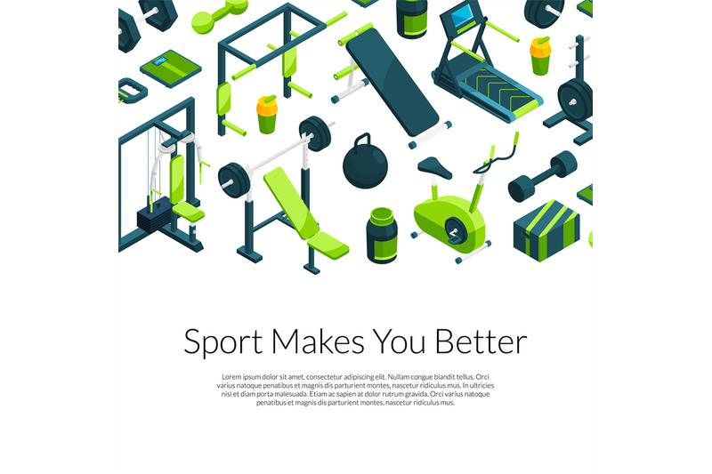 vector-isometric-gym-with-place-for-text