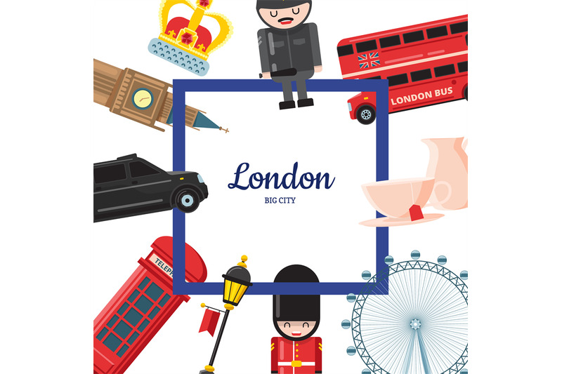 vector-cartoon-london-sights-illustration