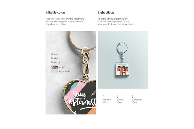 keychain-mockups-set